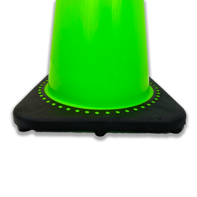 JBC Safety Plastic Lime Traffic Cone Base View