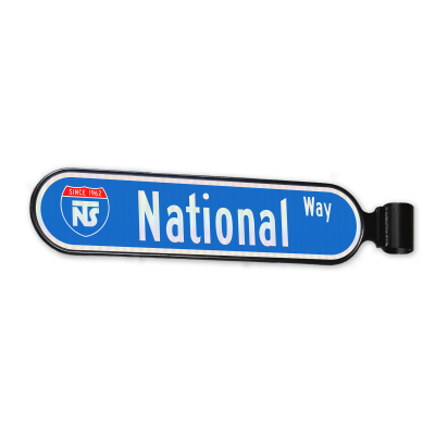 National Traffic Signs Bullnose Single Street Name Sign Frame