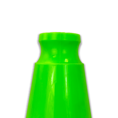 JBC Safety Plastic Lime Traffic Cone Indented Handle