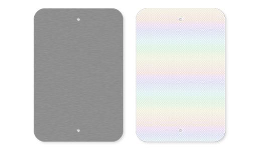 Vertical Rectangles Aluminum Blanks