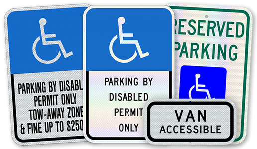 Handicap Series Parking Signs