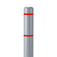 "Innoplast 4"" Gray w/ Red Reflective Stripes Bollard Cover"